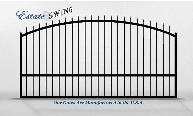 The estate swing foot long single driveway gate made