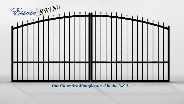 The Estate Swing 14 Foot Long, Dual Driveway Gate