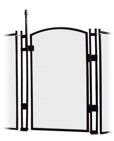 Pool Fence - EZ-Guard Self-Closing Self-Latching Gate - Black 4' Tall