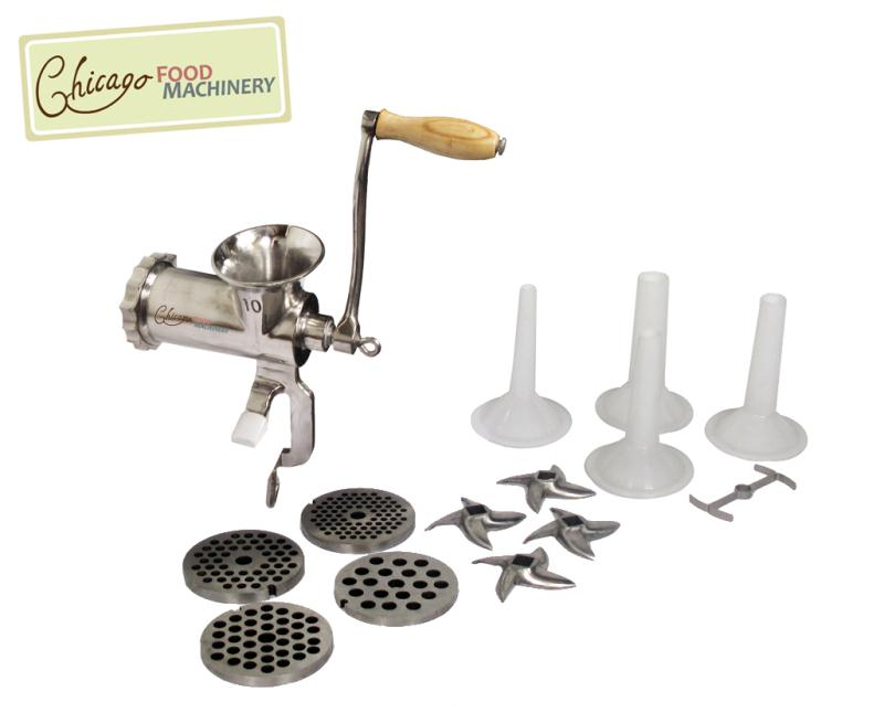 Chicago Food Machinery #10 Meat Grinder and Sausage Stuffing Kit