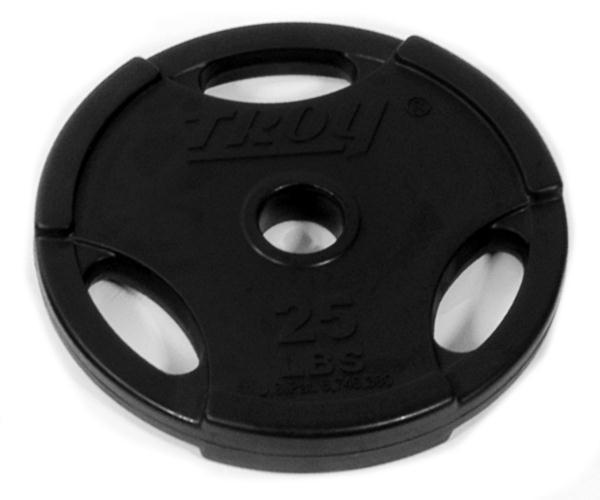 Troy Rubber Encased Interlocking Grip Plate - 25 LB (GO-025R)