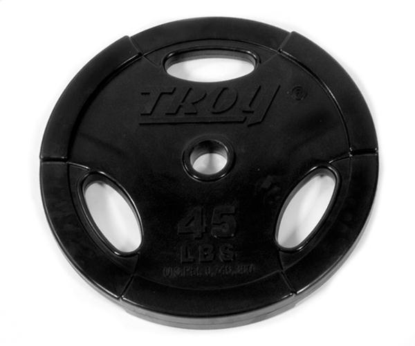 Troy Rubber Encased Interlocking Olympic  Grip Plate - 45 LB (GO-045R)