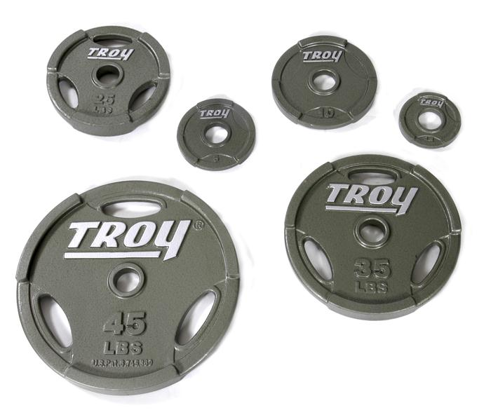 Troy 255 lb Olympic Grip Plate Weight Set (GO-255WeightSet)