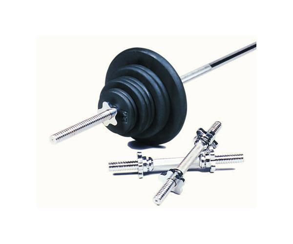 USA Sports 160 Lb Regular Weight Set, Black (BRSS-160T)