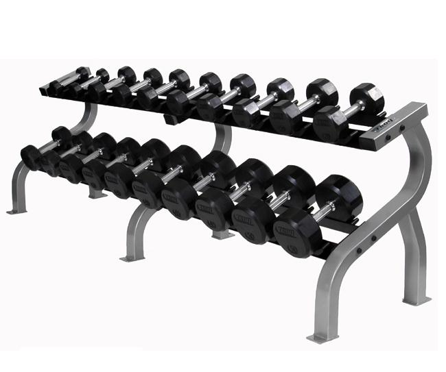 USA Horizontal two-tier dumbbell rack w/ saddles (DR-10)