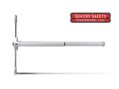 Sentry Safety 1200UL Series Keyed Alike Panic Bar For Double Doors by Sentry Safety - P (Painted)
