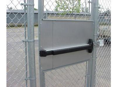 Standard Kit For Chain Link Pedestrian Gate With Detex