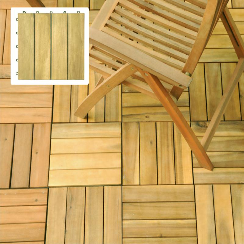 Premium Plantation Teak / 4 Slats Deck Tiles (V488)