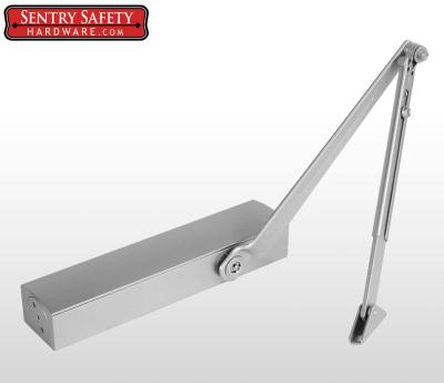 Sentry Safety 8026 Pivot Arm Commercial Door Closer CS, LS, BC, AS, DA, #6 - Silver Finish