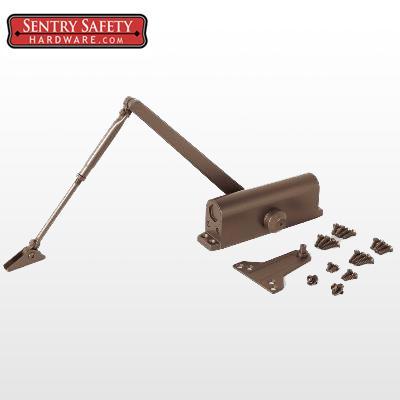sentry safety 703 commercial door closer cs ls 3 bronze finish
