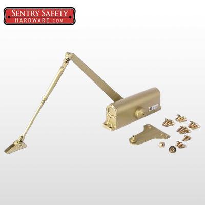 Sentry Safety 703 Commercial Door Closer CS, LS,  #3  - Gold Finish