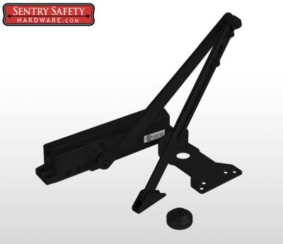 Sentry Safety 9024 Commercial Door Closer CS, LS, BC, AS, DA, #4  - Black Finish
