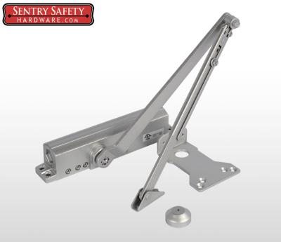 Sentry Safety 9024 Commercial Door Closer CS, LS, BC, AS, DA, #4  - Silver Finish