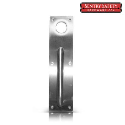 Sentry Safety Trim: Stainless Steel Pull Dummy Handle (#001) - with Pre-Cut Hole