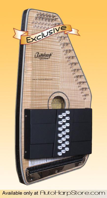Autoharp | Oscar Schmidt OS110 FNE Acoustic/Electric 21 Chord AutoHarp