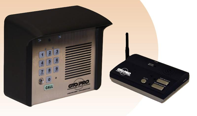 gto pro wireless intercom and keypad f3100mbc. Black Bedroom Furniture Sets. Home Design Ideas
