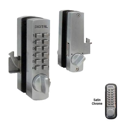 LockeyUSA C-150 Mini Keyless Hook Bolt - Satin Chrome