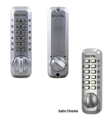 LockeyUSA M210 Keyless Deadbolt Door Lock - Satin Chrome
