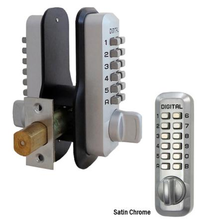 LockeyUSA M210EZDC Double Combination Deadbolt Door Lock w/ EZ Mounting Plates - Satin Chrome