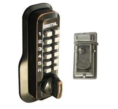 LockeyUSA M213 Keyless Night Latch Door Lock - Oil Rubbed Bronze