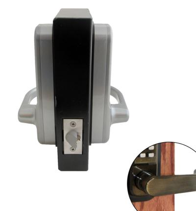 LockeyUSA 1150DC Dual Combination Heavy Duty Spring Latch Lever Lock - Antique Brass - (R) Hand Door