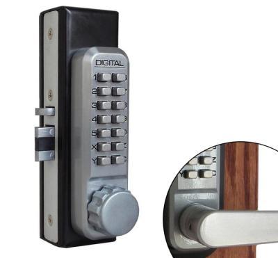 LockeyUSA 2930 Adams Rite Style Latch Lock - Satin Chrome