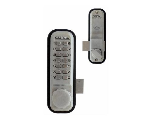 LockeyUSA 2200 Surface Mount Keyless Deadbolt - Satin Chrome