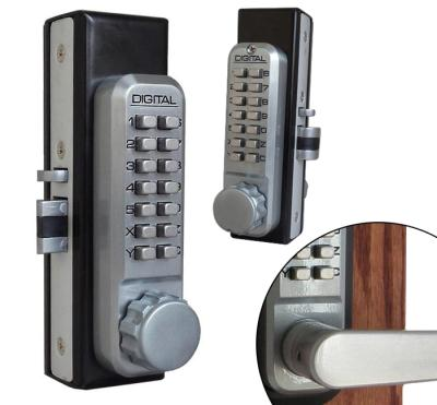 LockeyUSA 2930DC Dual Combination Adams Rite Style Latch Lock - Satin Chrome