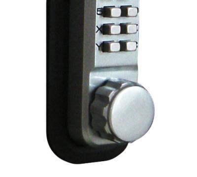 LockeyUSA 2210 Mechanical Keyless Deadbolt Door Lock - Satin Chrome