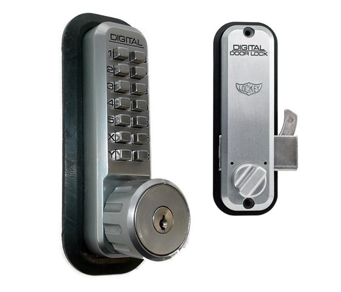 LockeyUSA 2500 Key Override Mechanical Sliding Door Lock