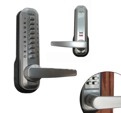 LockeyUSA 7055 Mechanical Keyless Ambidextrous Lever Handle - Satin Chrome