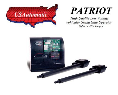 U s automatic patriot dual swing gate operator