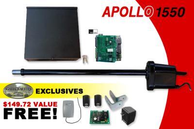 apollo gate opener apollo 1550 single gate opener w. Black Bedroom Furniture Sets. Home Design Ideas
