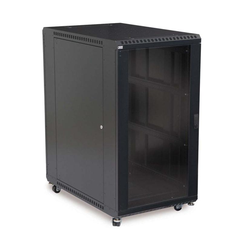 "22U LINIER Server Cabinet - Glass/Vented Doors - 36"" Depth by Kendall Howard (3100-3-001-22)"