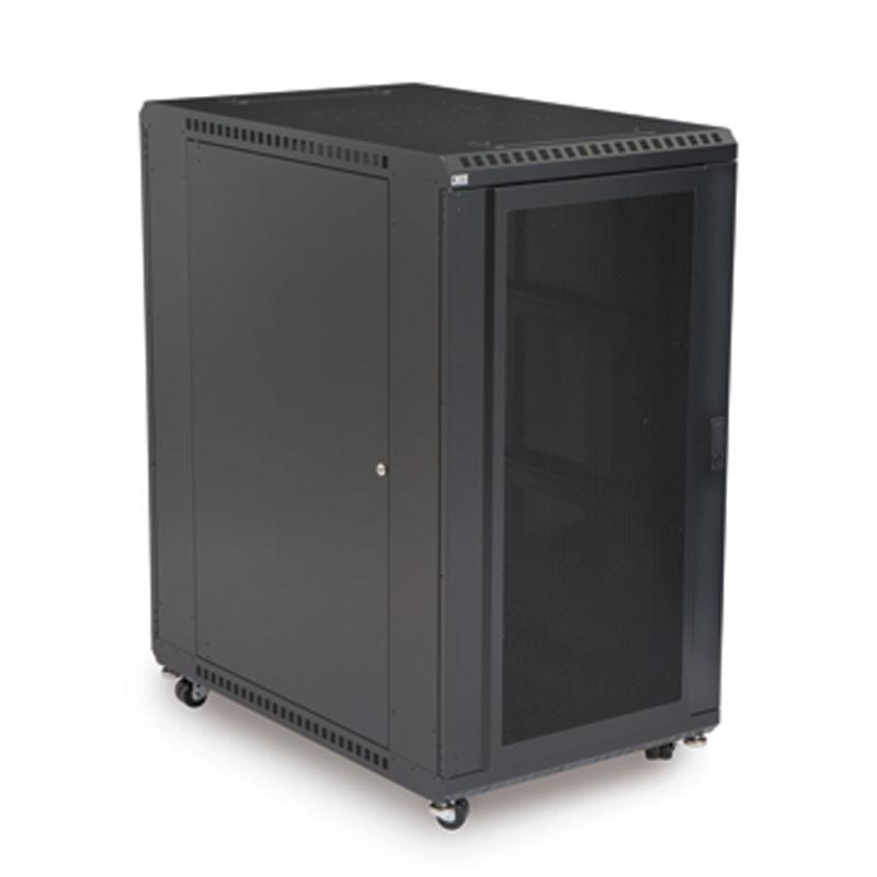 "22U LINIER Server Cabinet - Convex/Glass Doors - 36"" Depth by Kendall Howard (3102-3-001-22)"