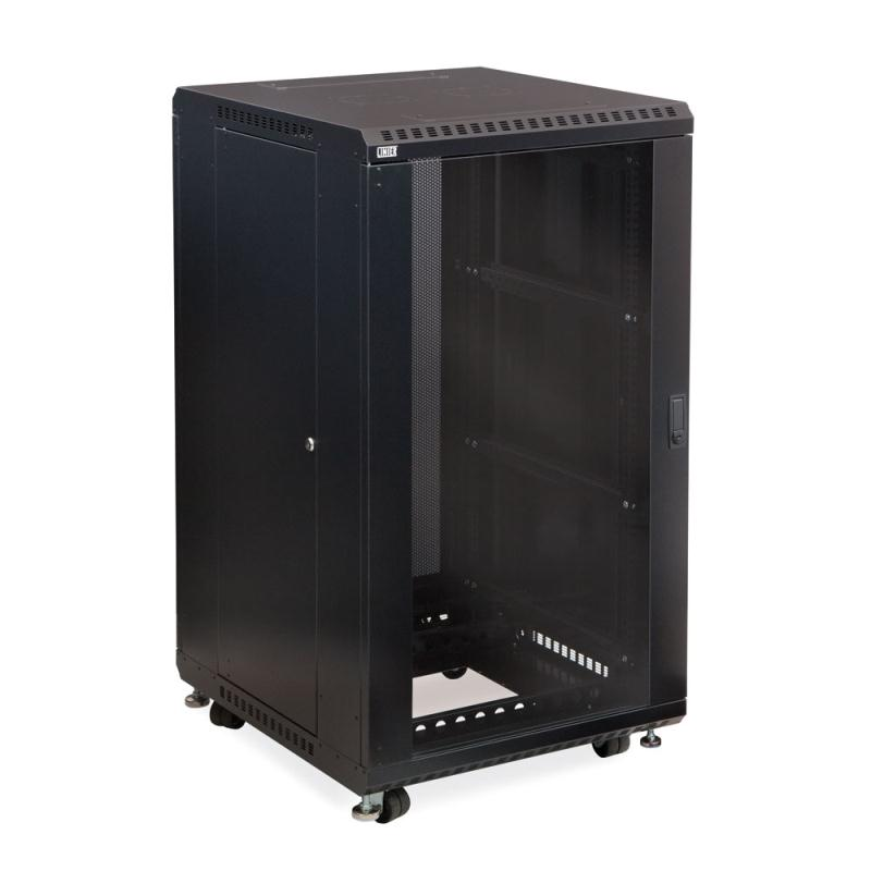 "22U LINIER Server Cabinet - Glass/Solid Doors - 24"" Depth by Kendall Howard (3101-3-024-22)"