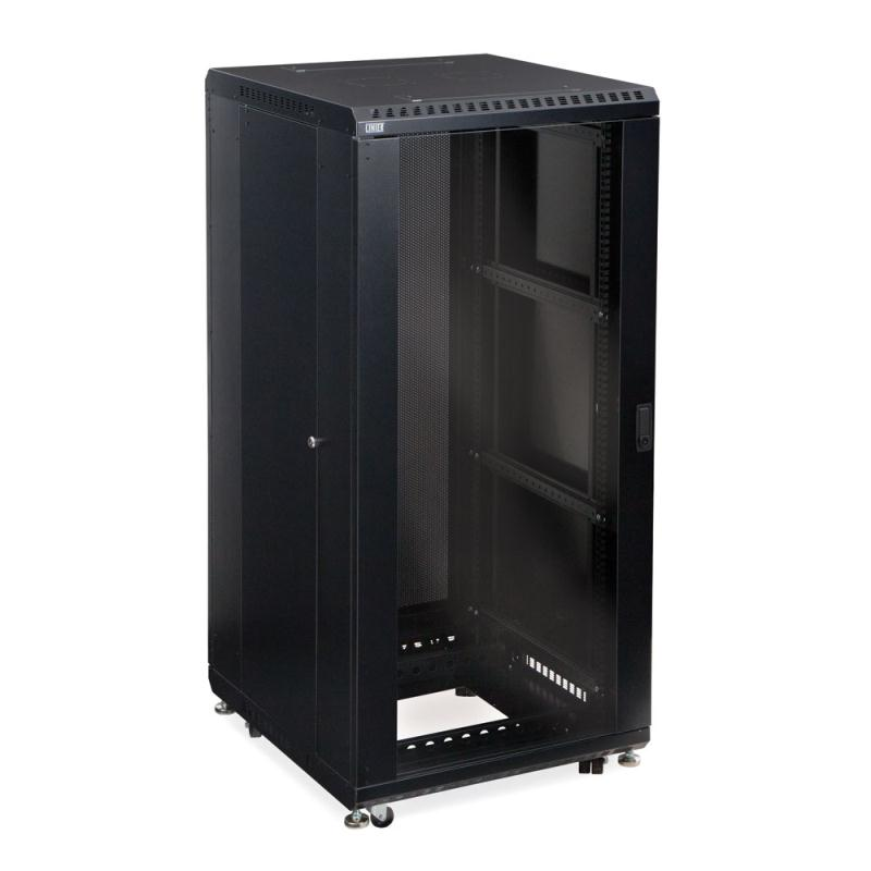 "27U LINIER Server Cabinet - Glass/Solid Doors - 24"" Depth by Kendall Howard (3101-3-024-27)"