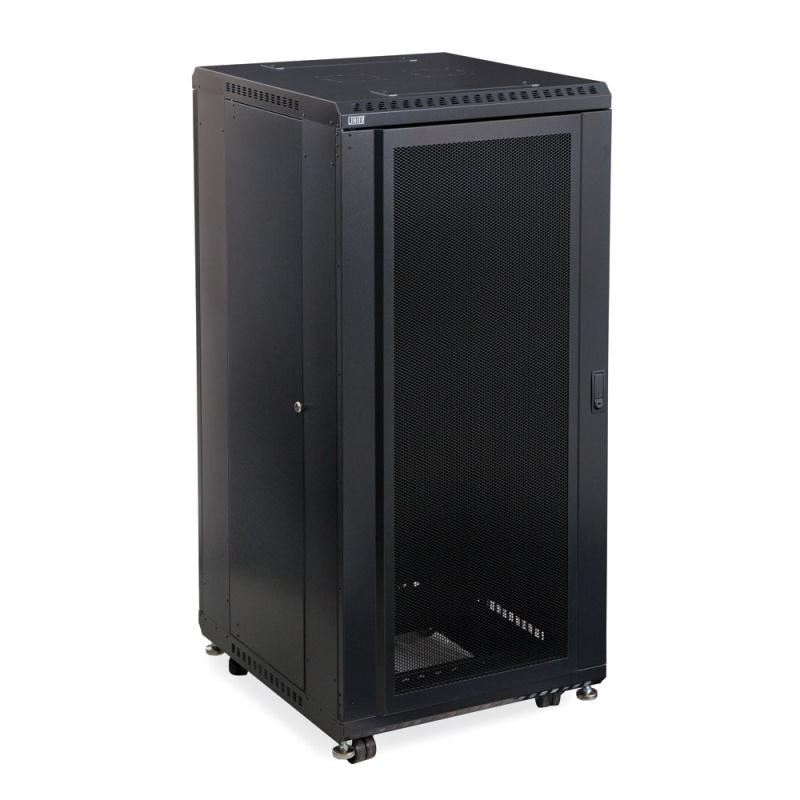 "27U LINIER Server Cabinet - Convex/Glass Doors - 24"" Depth by Kendall Howard (3102-3-024-27)"