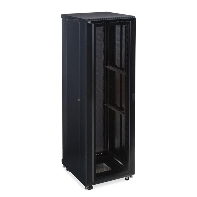 "42U LINIER Server Cabinet - Convex/Glass Doors - 24"" Depth by Kendall Howard (3102-3-024-42)"