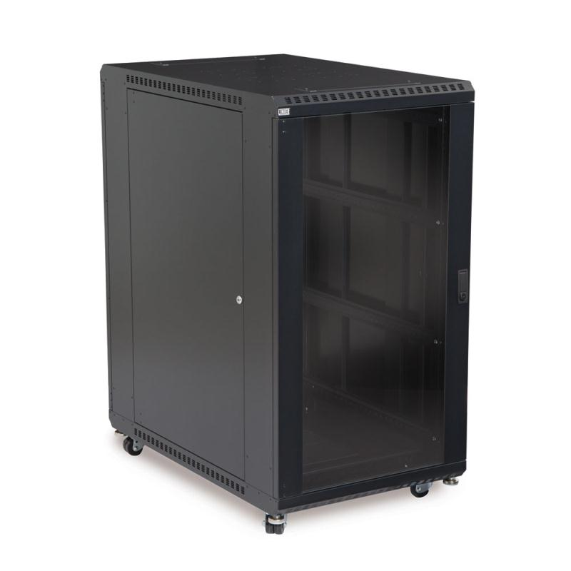 "22U LINIER Server Cabinet - Glass/Glass Doors - 36"" Depth by Kendall Howard (3103-3-001-22)"