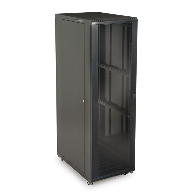 "42U LINIER Server Cabinet - Glass/Glass Doors - 36"" Depth by Kendall Howard (3103-3-001-42)"