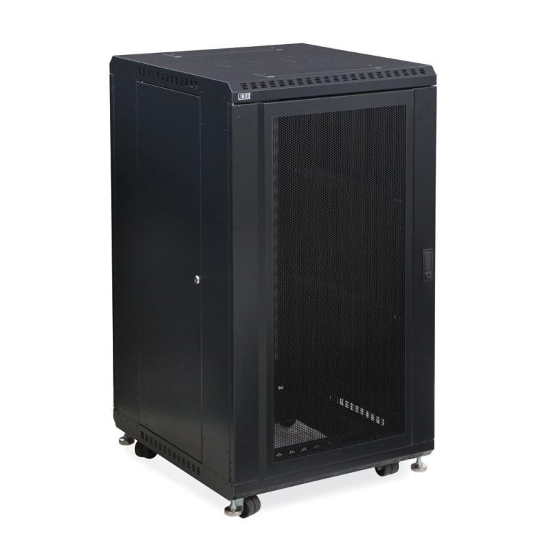 "22U LINIER Server Cabinet - Convex/Glass Doors - 24"" Depth by Kendall Howard (3102-3-024-22)"
