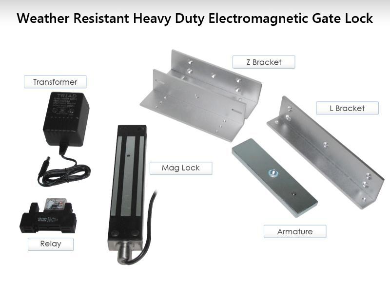Weather Resistant Heavy Duty Electromagnetic Gate Lock Kit