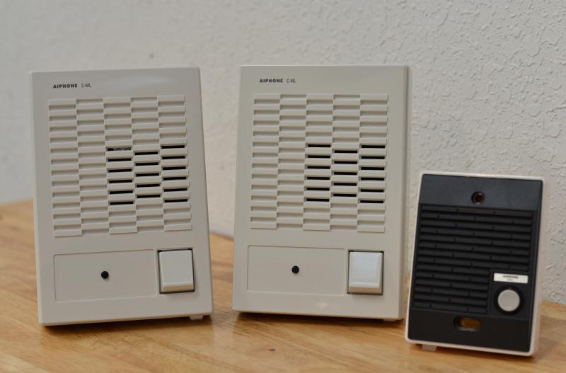 aiphone dual voice intercom system c 123lw. Black Bedroom Furniture Sets. Home Design Ideas