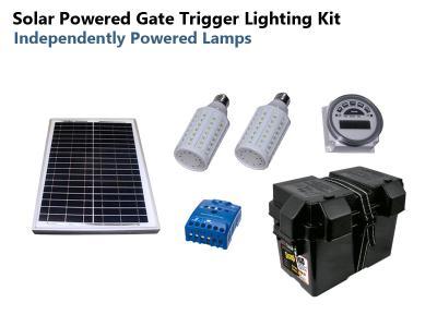 12VDC Solar-Powered Gate LED Lamp Kit - Stand alone