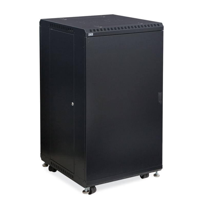 "22U LINIER Server Cabinet - Solid/Convex Doors - 24"" Depth by Kendall Howard (3104-3-024-22)"