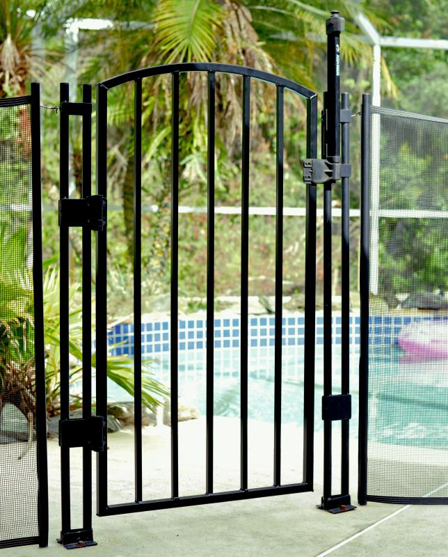 Ultimate Style & Safety Upgraded Child Pool Fence Safety Gate - 4' Tall Black