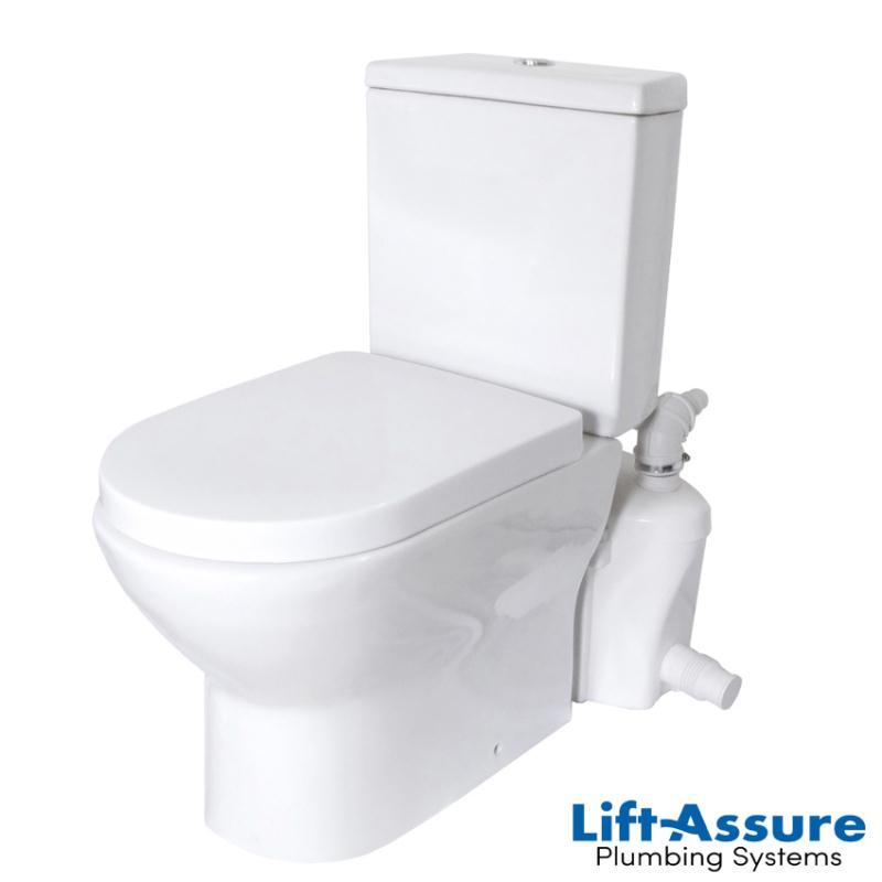 lift assure european elongated macerating toilet kit