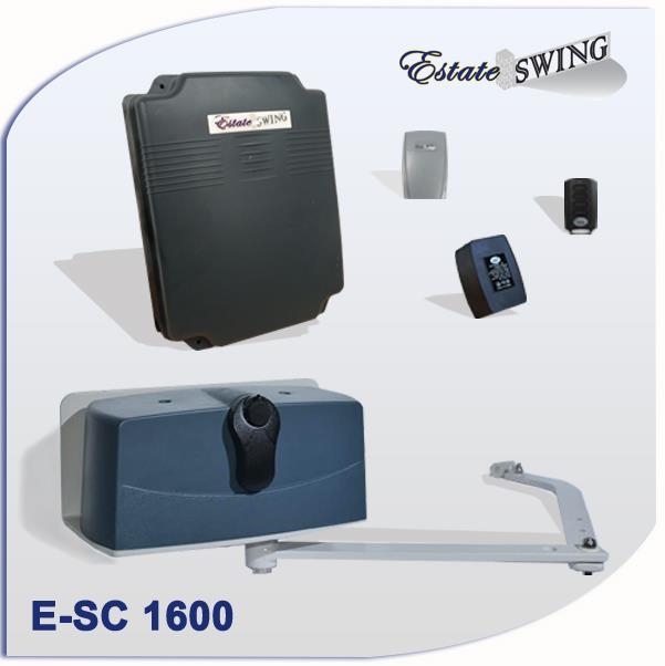 Gate Opener - Estate Swing E-SC 1600 Column Mounting Single Swing Gate Opener  w/ Free Extra Remote (E-SC 1600)