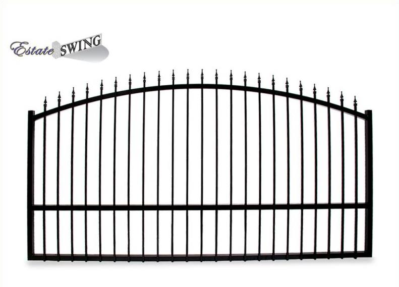The Estate Swing 12 Foot Long, Single Driveway Gate Made in USA
